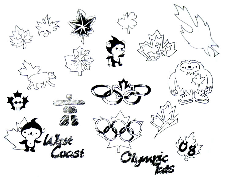 Thomas Lockhart's West Coast Tattoo - Olympic / Canadiana Tattoo Flash